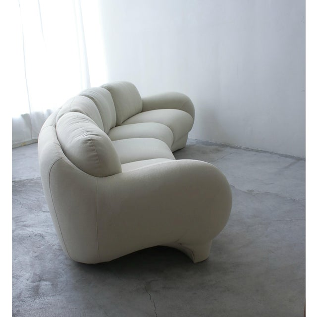1980s 2 Piece Curved Post Modern Sofa by Preview Furniture For Sale - Image 5 of 9