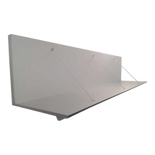 "B&B Italia ""Pab"" Brushed Aluminum Hanging Shelf"
