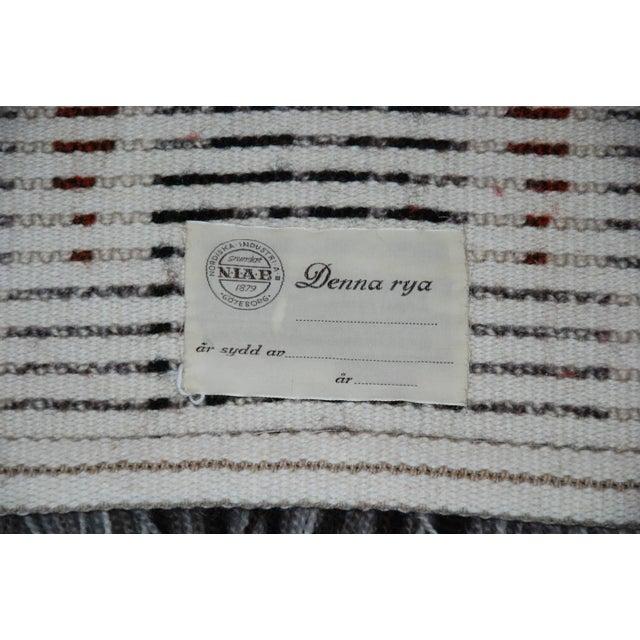 1960's Denna Rya Vintage Abstract Wool Tapestry/Rug -- 1′8″ × 2′9″ - Image 7 of 8