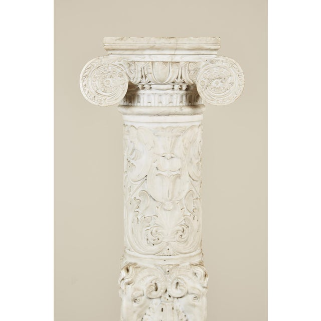 19th Century Italian Carved Marble Column - Image 6 of 9
