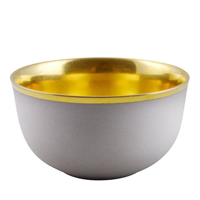 """2010s Pair of """"Schubert"""" Champagne Bowls White & Gold by Augarten For Sale - Image 5 of 10"""