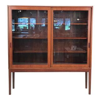 Vintage Danish Rosewood & Glass Door Cabinet