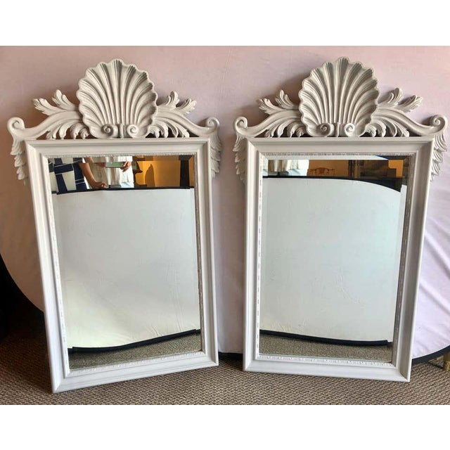 Hollywood Regency Labarge Wall or Console Mirrors, Italian - a Pair For Sale - Image 9 of 13