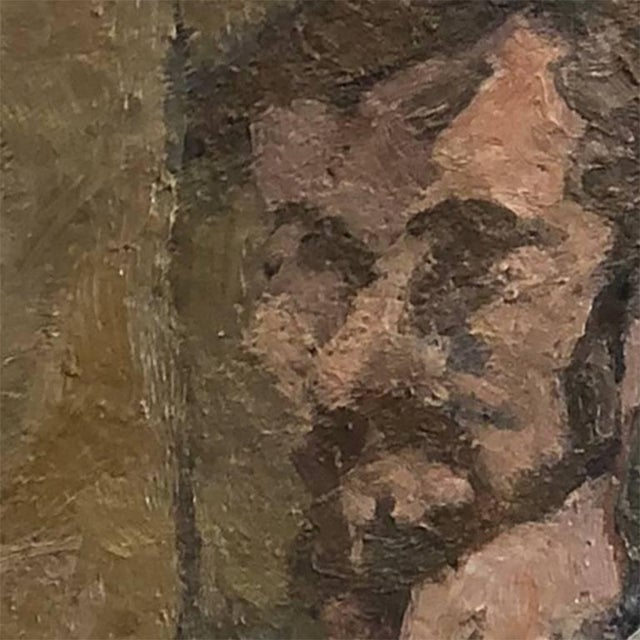 Abstract 20th Century Abstract Self Portrait Painting by Daniel Clesse For Sale - Image 3 of 4