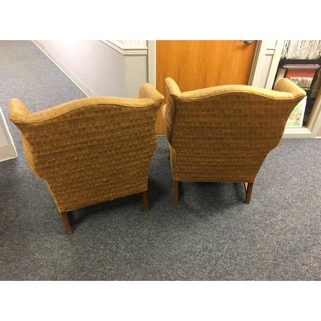 W & J Sloane Wingback Chairs - A Pair For Sale - Image 5 of 5