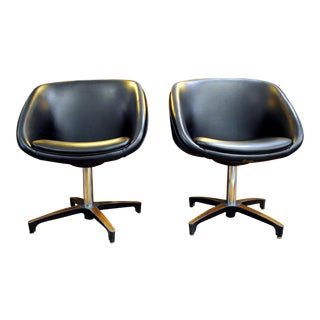 Chromcraft Swivel Pod Lounge Chairs, 1960's - A Pair