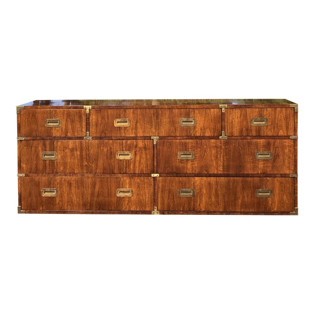 20th Century Campaign Henredon Triple Dresser For Sale