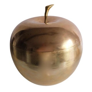 Mid-Century Brass Apple Catch All Box
