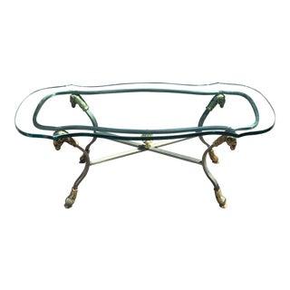 Superb Maison Jansen Style Ram's Head Coffee Table For Sale