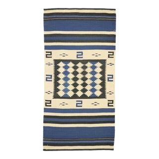 Native American Antique Indian Navajo Kilim Rug, Navajo Saddle Blanket - 2'1 X 4'1 For Sale