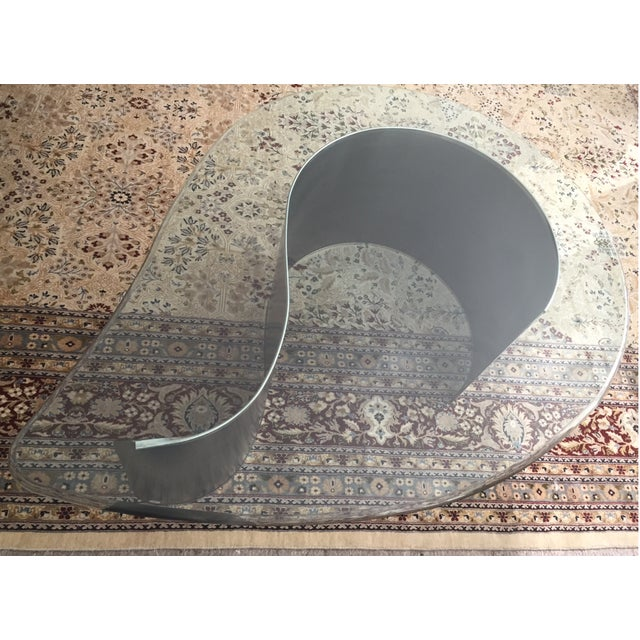 Contemporary Karl Springer Style Coffee Table For Sale - Image 3 of 5