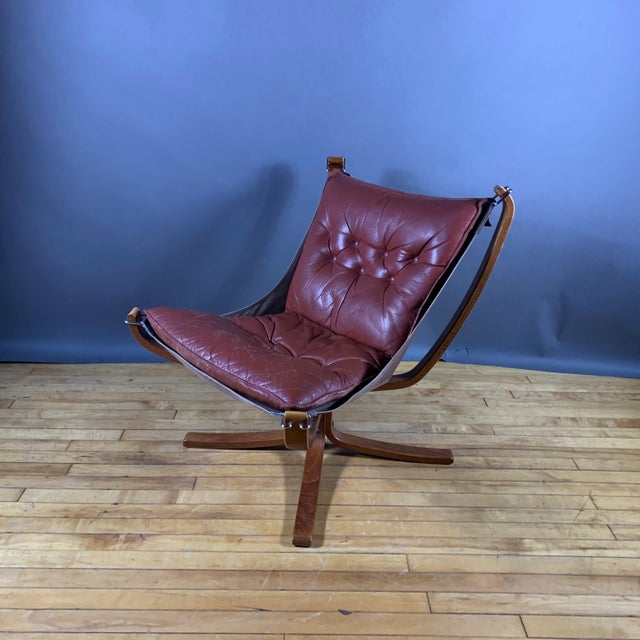 """Mid-Century Modern Sigurd Ressell Low Back """"Falcon"""" Chair, 1970s, Norway For Sale - Image 3 of 11"""