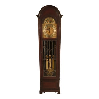 Herschede 5-Tube Dome Top Mahogany Grandfather Clock For Sale