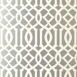 Image of Schumacher Imperial Trellis Wallpaper in Silver - 2-Roll Set (9 Yards) For Sale