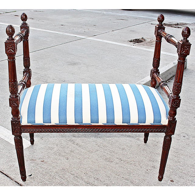 Louis XVI Style Bench - Image 3 of 7