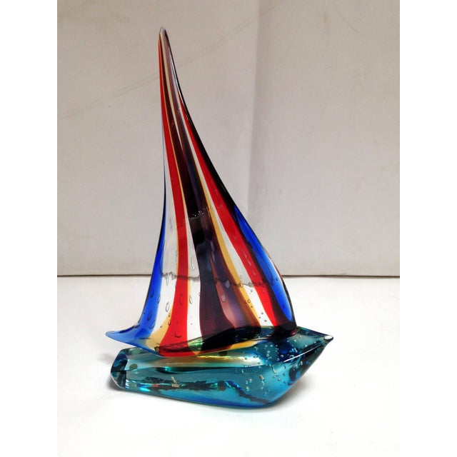 Figurative Sailboat Sculpture by Sergio Costantini For Sale - Image 3 of 7