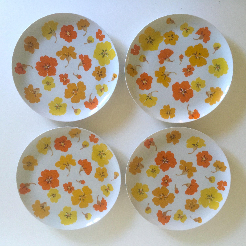Mid Century Modern Suisse Langenthal Nasturtium Porcelain Dinnerware - Set of 35 - Image 4 of & Mid Century Modern Suisse Langenthal Nasturtium Porcelain Dinnerware ...