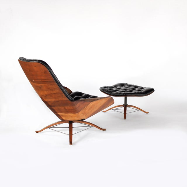 1960s 1960s Vintage 1st Edition Mr Chair by George Mulhauser for Plycraft Leather Lounge Chair For Sale - Image 5 of 12