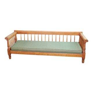 Antique Curly Maple Daybed For Sale