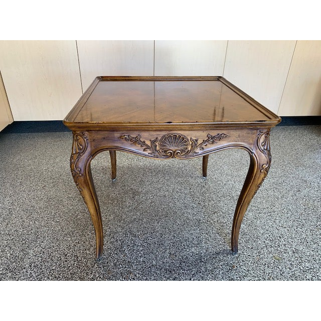 Traditional 1980s Louis XVII Henredon Villandry Collection Side Table For Sale - Image 3 of 7
