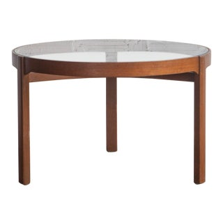 1970s Mid-Century Modern Bamboo Glass-Top Coffee Table For Sale