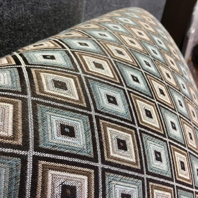 Ethan Allen Diamond Upholstered Sofa Chair - Image 4 of 7