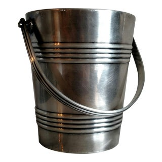 1950s German Hotel Silver Ice Bucket for Lufthansa Airlines For Sale