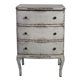 Gustavian Gray Wooden Chest of Drawers For Sale
