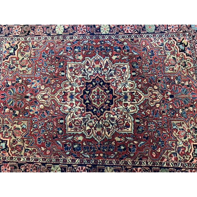 """1930s Antique Persian Sarouk Rug- 3'3"""" X 4'10"""" For Sale In Nashville - Image 6 of 10"""