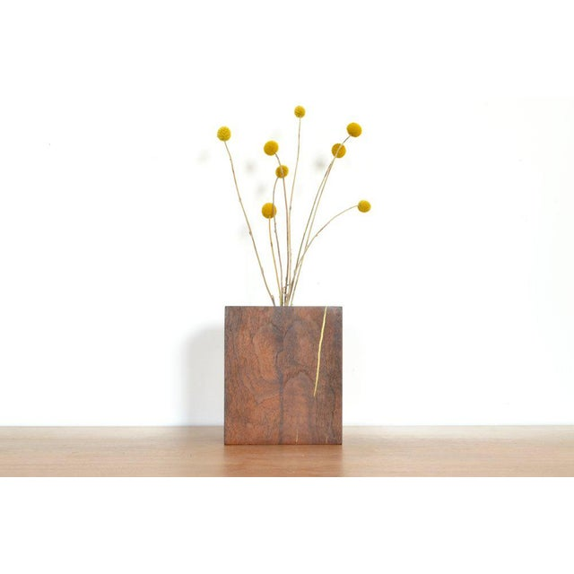 Ozshop Walnut Bud Vase For Sale - Image 4 of 4