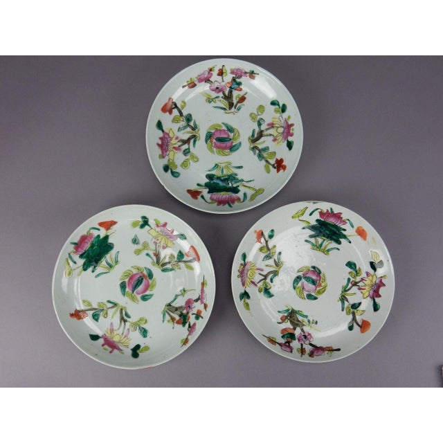 Antique Chinese Qing Dynasty Plates - Set of 3 - Image 7 of 11