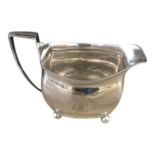 1885 Antique Stephen Adams English Sterling Silver Creamer For Sale