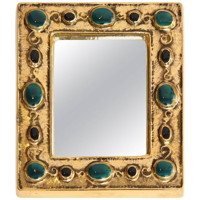 Gold Mirror by Francois Lembo For Sale - Image 8 of 8