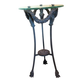 1980s Art Nouveau Style Accent Table For Sale