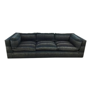 Mid Century Sofa in Jack Lenor Larsen Fabric Attributed to Dunbar For Sale