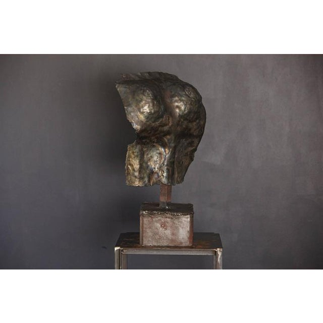 Realism Brutalist Bronze Sculpture of a Female Torso For Sale - Image 3 of 9