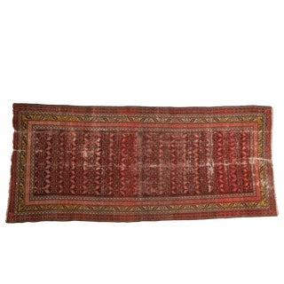 "Antique Malayer Rug Runner - 3'6"" X 7'9"" For Sale"
