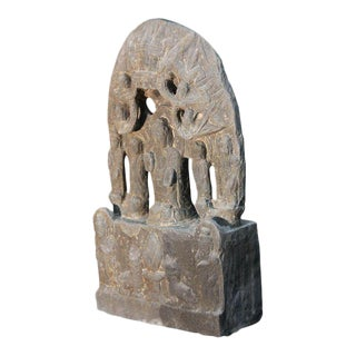 Buddhist Carved Stone Relief Sculpture For Sale