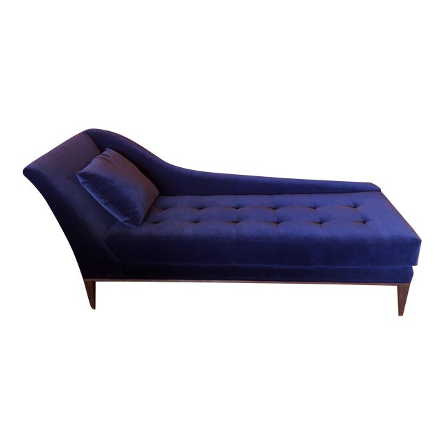 Koket Style Velvet Chaise For Sale