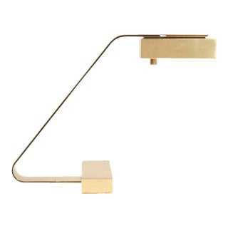 Casella Brass Flat Bar Cantilevered Table Lamp For Sale