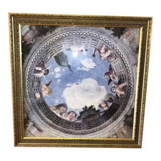 1990s Baroque Style Baldwin Print and Frame For Sale