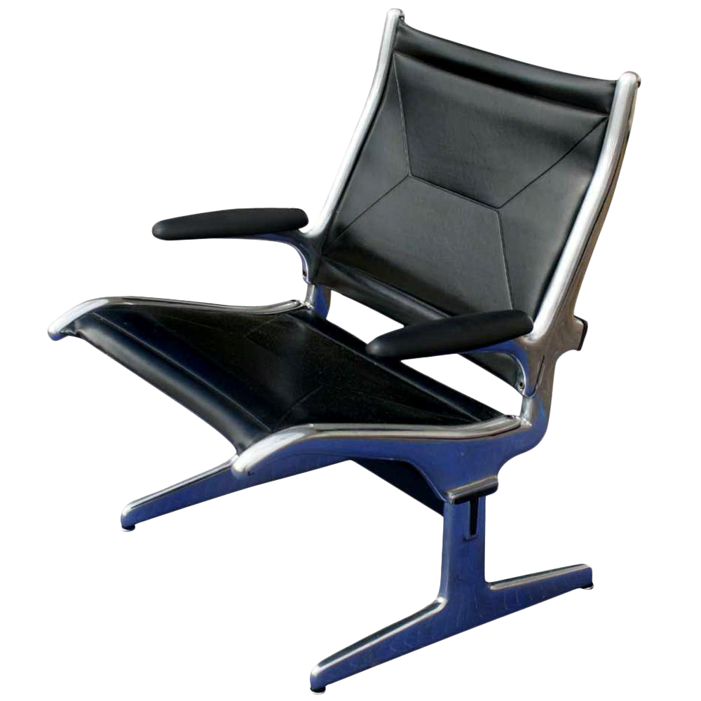 Herman Miller Eames Airport Sling Seating Lounge Chair   Image 1 Of 6