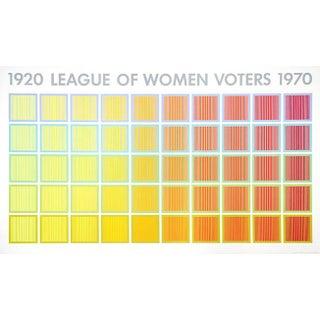 "Richard Anuszkiewicz, ""1920 League of Women Voters"", Optical Art Screenprint Poster"