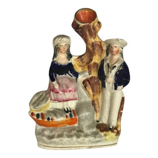 Mid 19th Century Antique Staffordshire Spill Figurine For Sale