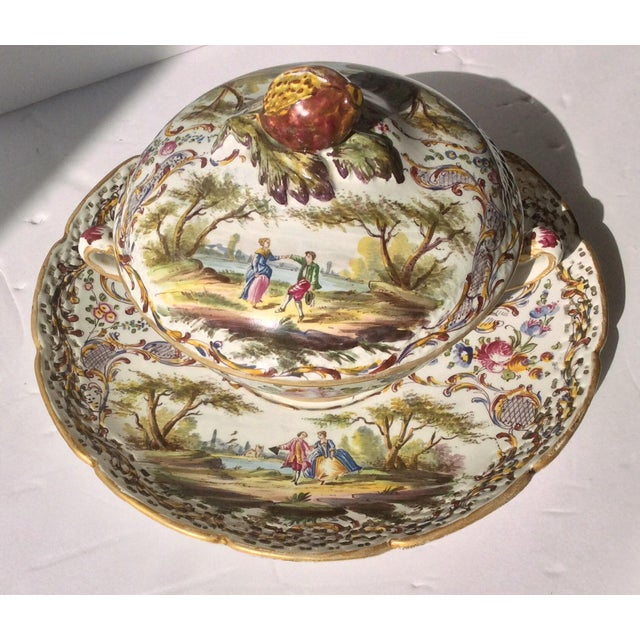 Antique French Faience Serving Dishes - 3 Piece Set For Sale - Image 9 of 10