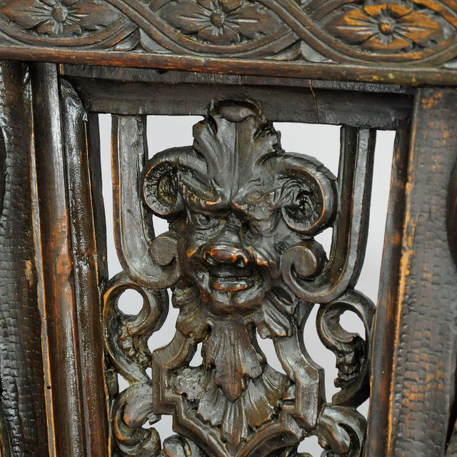 A Great Renaissance Style Italian Sgabello Chair Ca. 1860 For Sale - Image 10 of 13