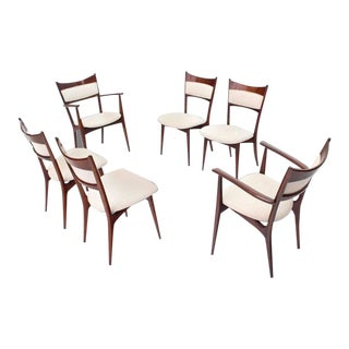 Italian Modern Dining Chairs With New Upholstery - Set of 6 For Sale