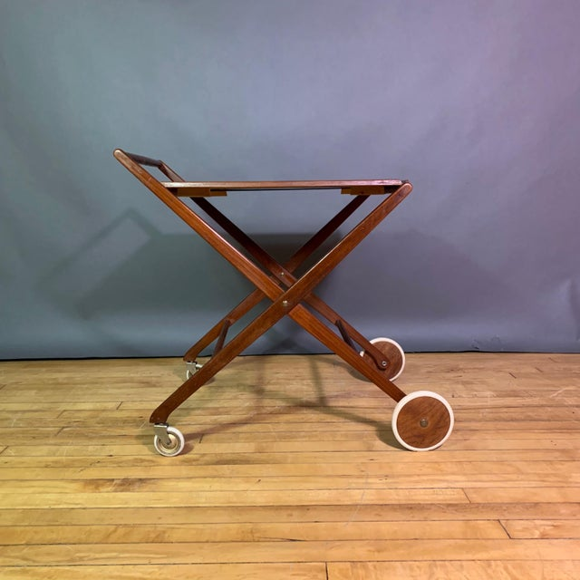 1970s Teak and Black Laminate Serving Trolley For Sale In New York - Image 6 of 12