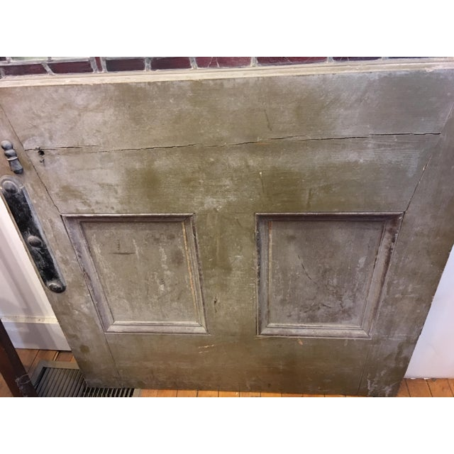 Beautiful 1920's English Stained Glass Door For Sale - Image 10 of 11