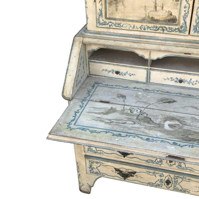 Mid 18th Century Antique Italian Painted Secretary Desk For Sale In Atlanta - Image 6 of 7